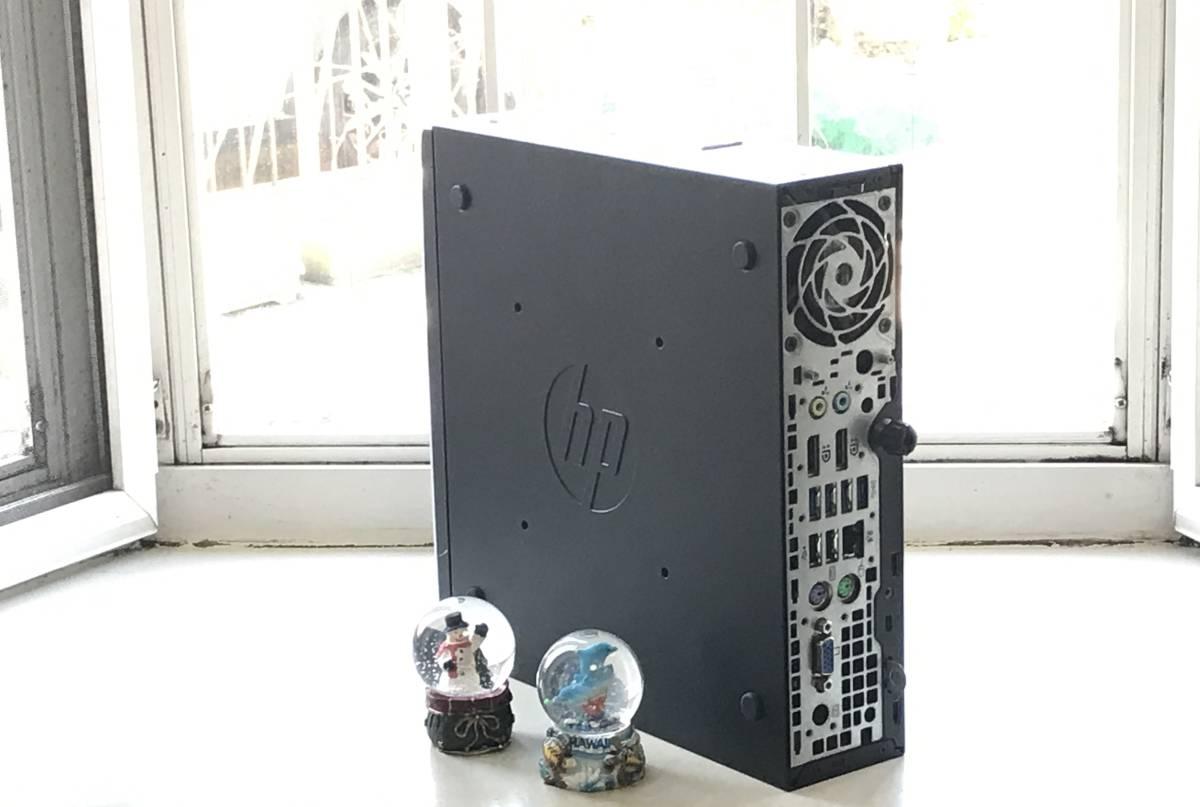 ★高速起動&超小型PC★ HP Compaq Elite 8200 USDT Core i3-2100/新品240GBSSD/4GB/MS office2019/無線LAN/安心付属品/送料均一/領収書可 _画像3
