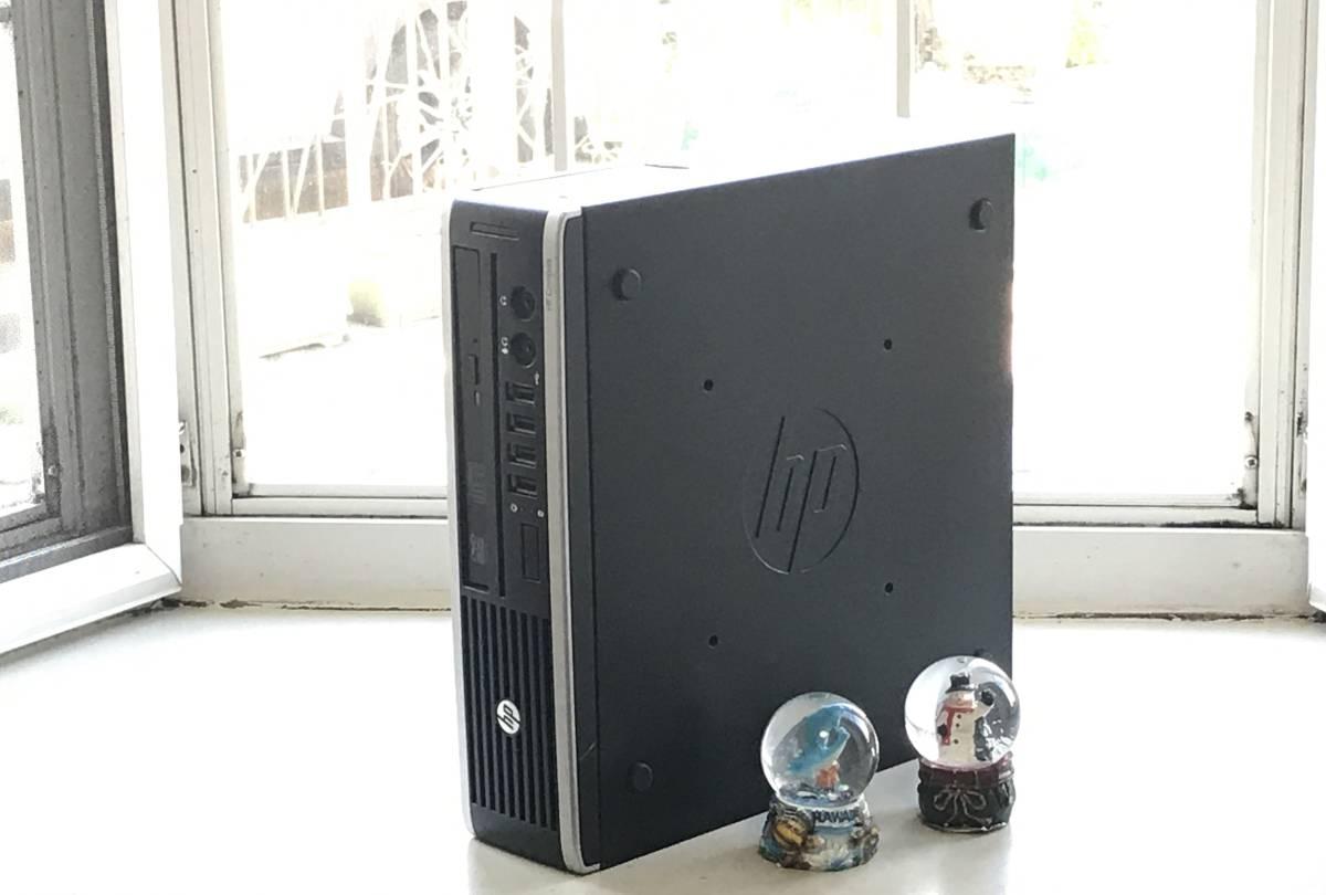 ★高速起動&超小型PC★ HP Compaq Elite 8200 USDT Core i3-2100/新品240GBSSD/4GB/MS office2019/無線LAN/安心付属品/送料均一/領収書可 _画像2