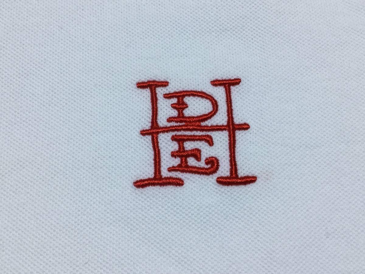 ED HARDY エドハーディー // 刺繍 プリント 半袖 ポロシャツ (白) サイズ M_画像6