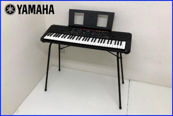 美品【使用極僅か 2019年製】YAMAHA ヤマハ PORTATONE ポータトーン【PSR-E263】スタンド・譜面立て ACアダプター付 キーボード 電子ピアノ