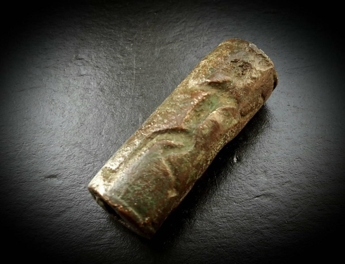 ガンダーラ メソポタミア 青銅製円筒印章_画像9