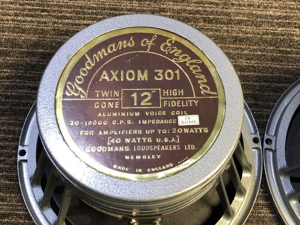 ■□ 名機 英国製 GOODMANS AXIOM 301 ペア TwinCone 12インチ / グッドマン □■_画像2