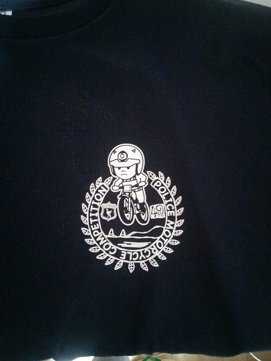 第49回全国白バイ安全運転競技大会 開催記念限定Tシャツ LLサイズ/ネイビー(新品)_画像3