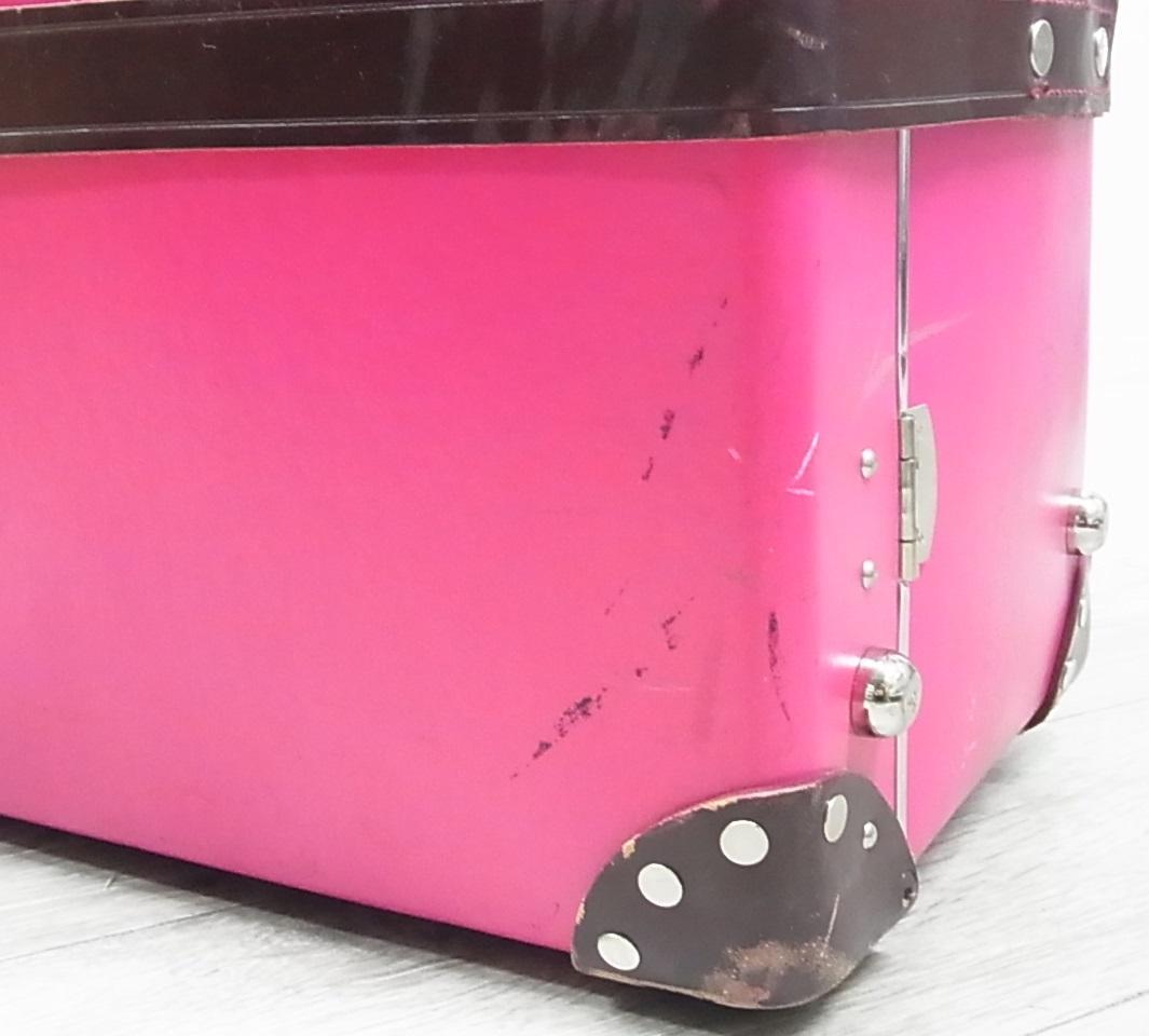 GLOBE TROTTER グローブトロッター センテナリー 28インチ スーツケース キャリーバッグ ピンク 正規品_画像9
