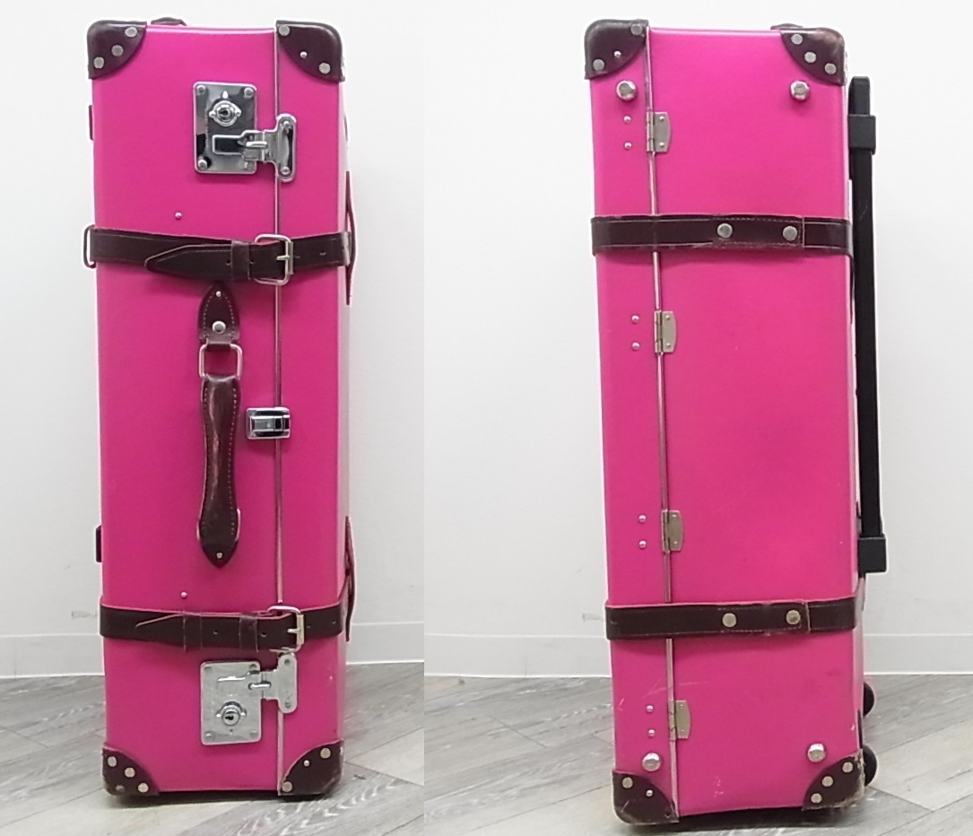 GLOBE TROTTER グローブトロッター センテナリー 28インチ スーツケース キャリーバッグ ピンク 正規品_画像3