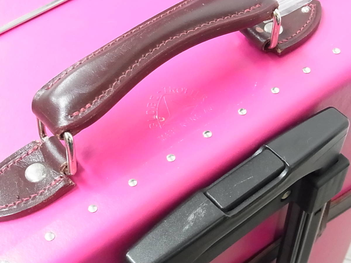 GLOBE TROTTER グローブトロッター センテナリー 28インチ スーツケース キャリーバッグ ピンク 正規品_画像7