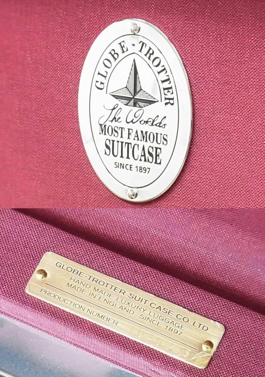 GLOBE TROTTER グローブトロッター センテナリー 28インチ スーツケース キャリーバッグ ピンク 正規品_画像10