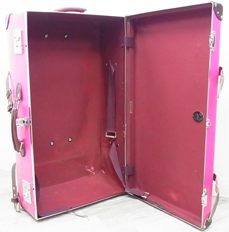 GLOBE TROTTER グローブトロッター センテナリー 28インチ スーツケース キャリーバッグ ピンク 正規品_画像4