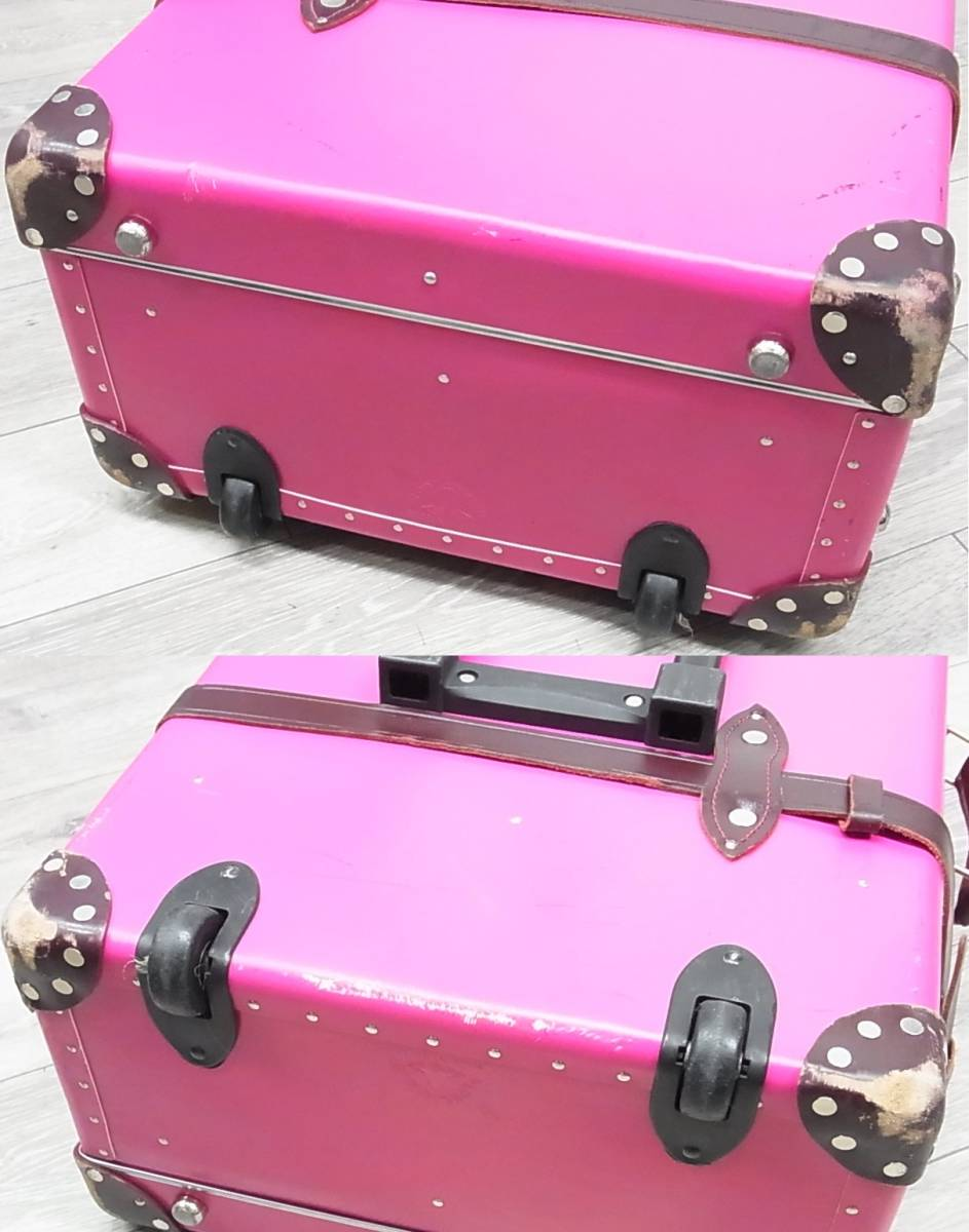 GLOBE TROTTER グローブトロッター センテナリー 28インチ スーツケース キャリーバッグ ピンク 正規品_画像5