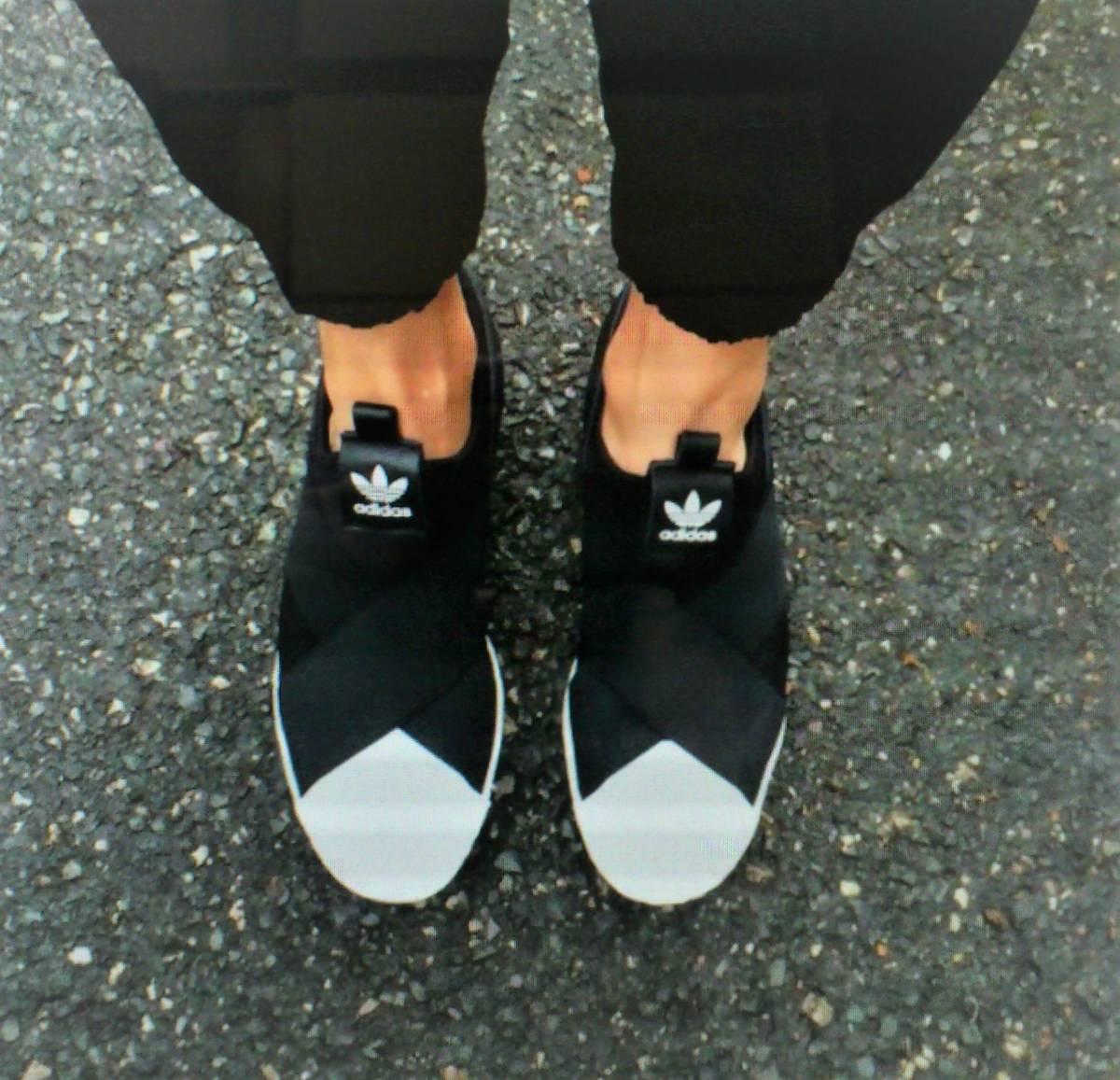 今期・完売 24㎝ アディダスジャパン正規・新品タグ箱付・adidas Originals アディダス オリジナルス・スーパースタースリッポン(S81337)_画像6