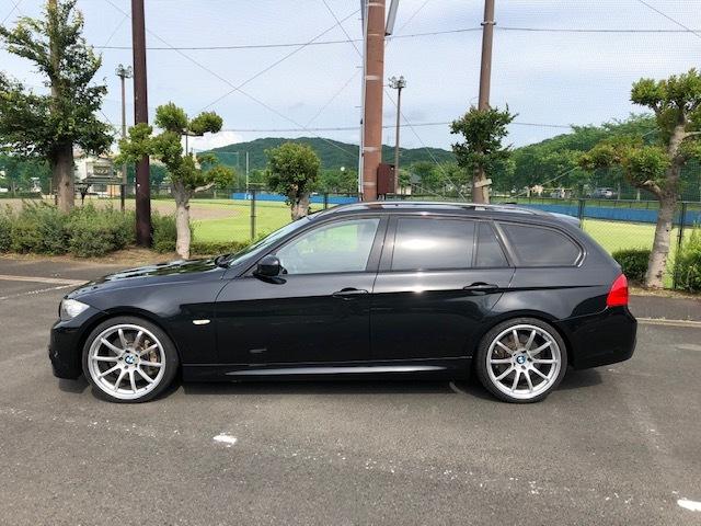 BMW335iツーリング Mスポーツパッケージ サンルーフ 黒レザー HDDナビ フルセグTV アドバンレーシング19インチアルミ_画像4