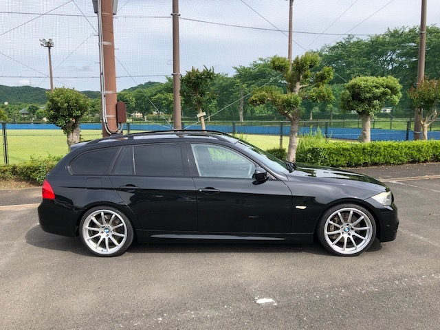 BMW335iツーリング Mスポーツパッケージ サンルーフ 黒レザー HDDナビ フルセグTV アドバンレーシング19インチアルミ_画像8