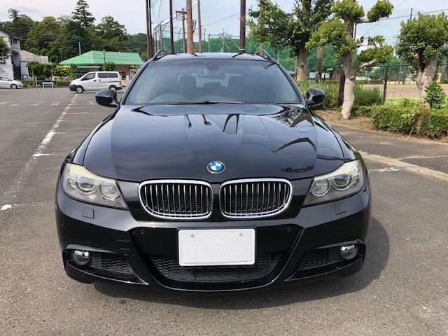 BMW335iツーリング Mスポーツパッケージ サンルーフ 黒レザー HDDナビ フルセグTV アドバンレーシング19インチアルミ_画像2