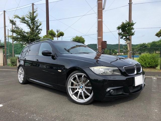 BMW335iツーリング Mスポーツパッケージ サンルーフ 黒レザー HDDナビ フルセグTV アドバンレーシング19インチアルミ
