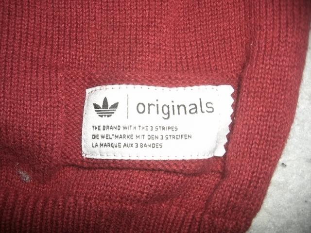 ★美U adidas/Originals HZO カーディガン S `12製アディダスオリジナルス HZO ウールニットカーディガン バーガンディ_画像7