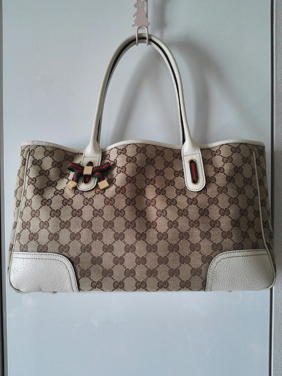 check out e3330 a98b3 GUCCI グッチ トートバッグ プリンシー GGキャンバス