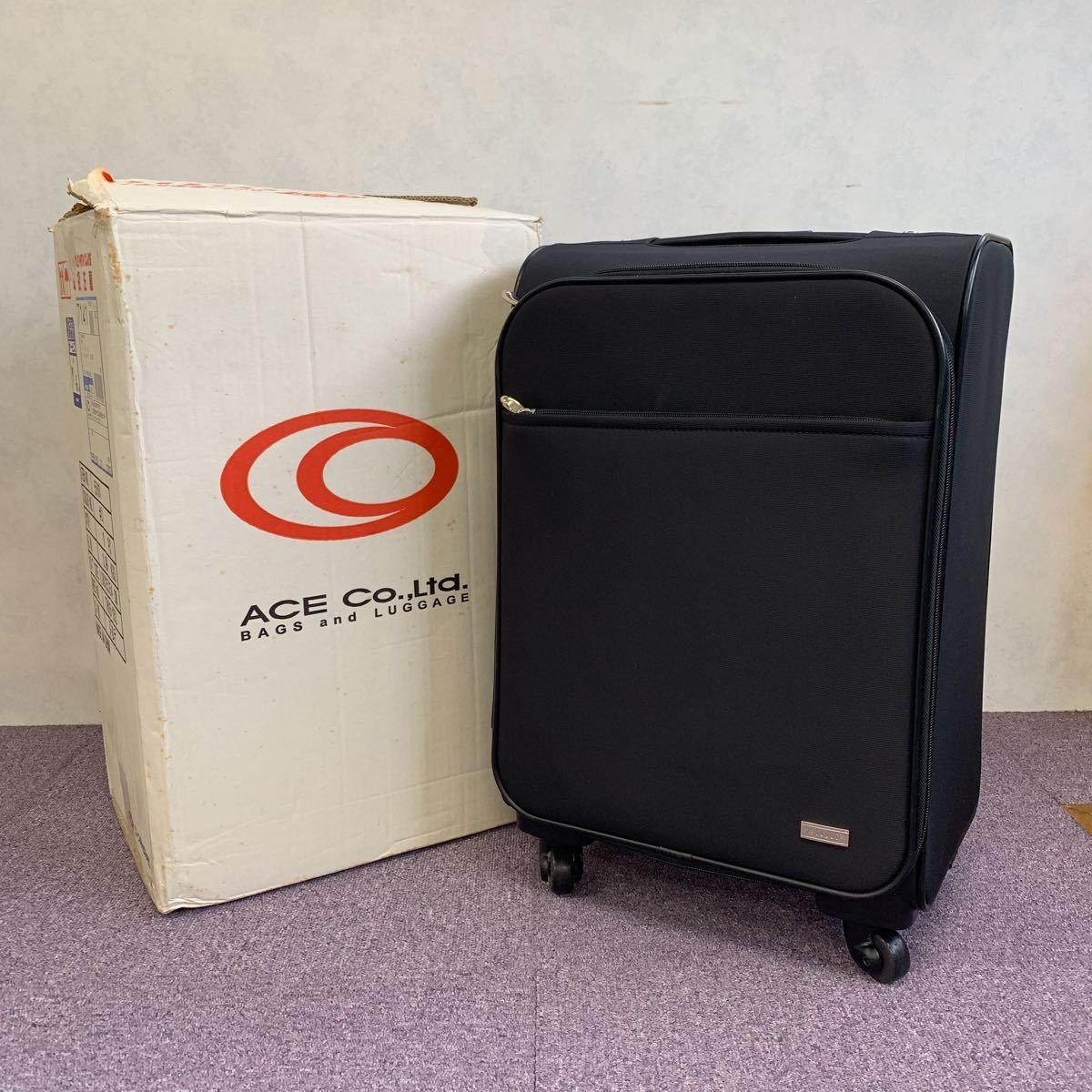 美品!ACE ビジネスキャリーバッグ ポーチ付 PUJOLS 旅行バッグカバン スーツケース エース 4輪_画像10