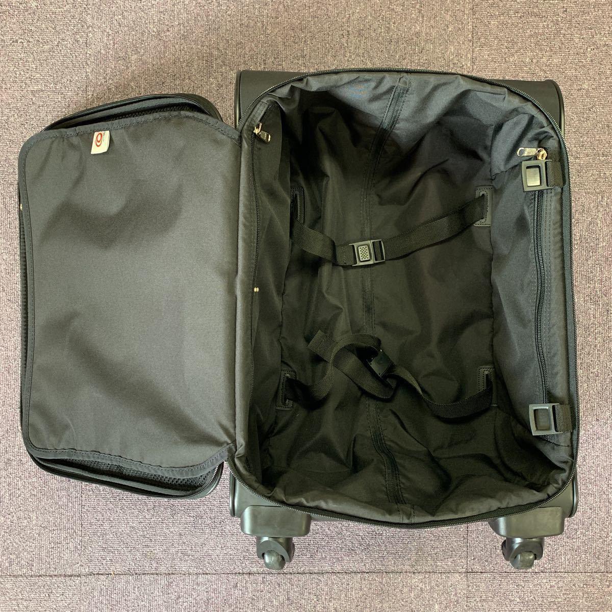 美品!ACE ビジネスキャリーバッグ ポーチ付 PUJOLS 旅行バッグカバン スーツケース エース 4輪_画像6