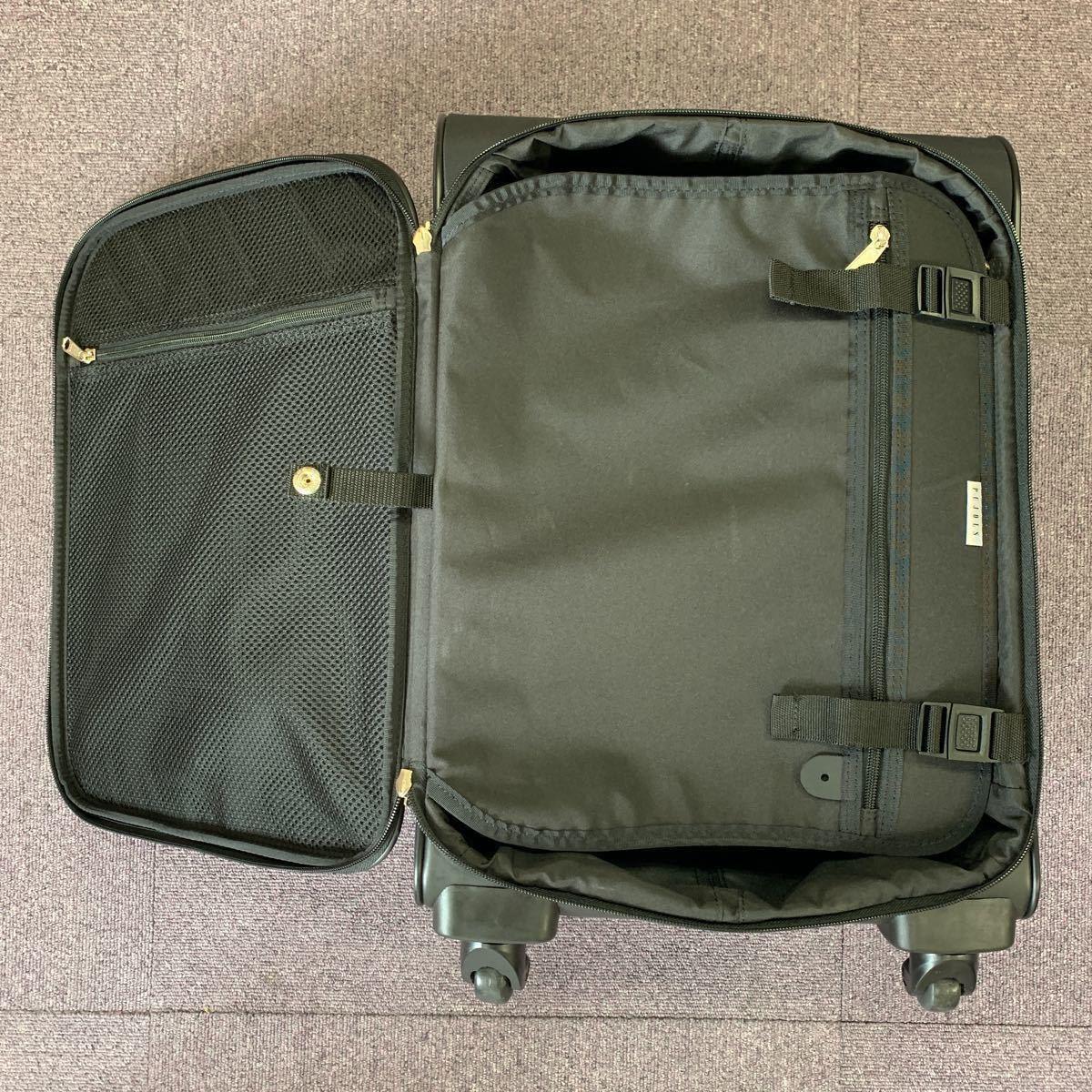 美品!ACE ビジネスキャリーバッグ ポーチ付 PUJOLS 旅行バッグカバン スーツケース エース 4輪_画像5