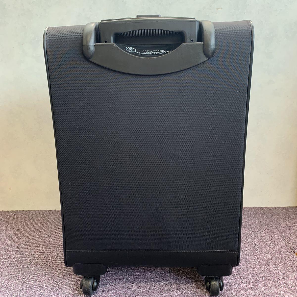 美品!ACE ビジネスキャリーバッグ ポーチ付 PUJOLS 旅行バッグカバン スーツケース エース 4輪_画像2