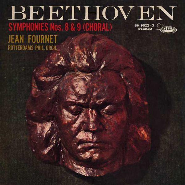 19068◆2LP*フルネ/ベートーヴェン:交響曲第8&9番合唱/ステレオ!!