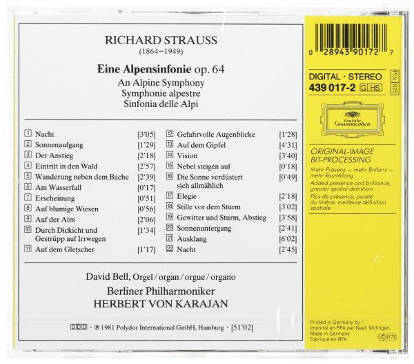 【新品未開封】 R・シュトラウス:アルプス交響曲 カラヤン指揮/ベルリン・フィルハーモニー管弦楽団 ゴールド 西独 DG輸入盤_画像2