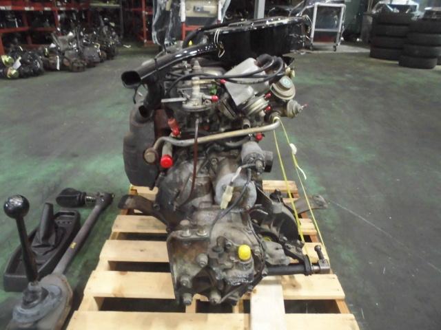 【G10】 昭和車 旧車 シャレード エンジン+ミッション+補機類付き 原動機 CB-32 48648km 低走行車 圧縮のみ測定済み ジャンク品_画像3
