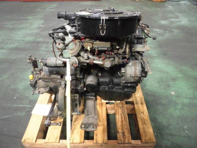 【G10】 昭和車 旧車 シャレード エンジン+ミッション+補機類付き 原動機 CB-32 48648km 低走行車 圧縮のみ測定済み ジャンク品_画像2