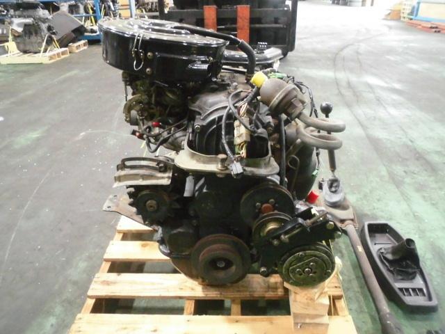【G10】 昭和車 旧車 シャレード エンジン+ミッション+補機類付き 原動機 CB-32 48648km 低走行車 圧縮のみ測定済み ジャンク品_画像4