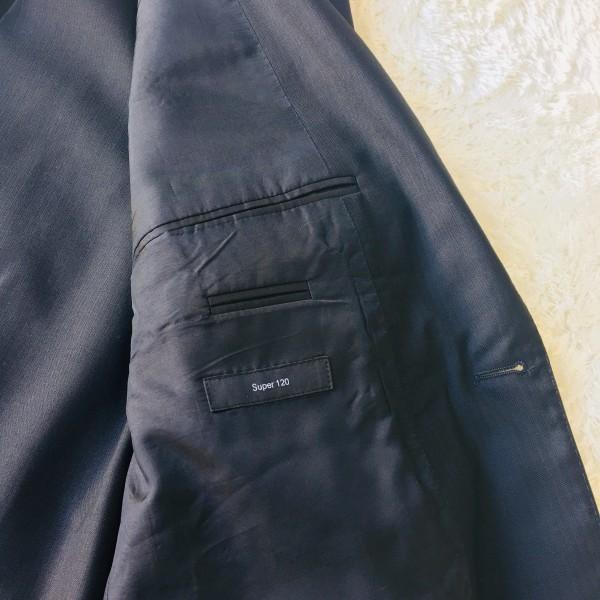 646 美品 スリーピース HUGO BOSS ヒューゴボス スーツ ブラック 黒 48 メンズ XL位 3ピース_画像7