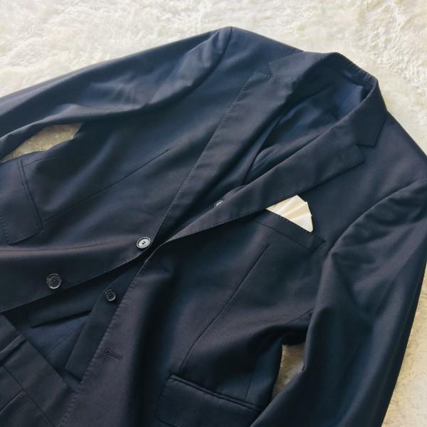 646 美品 スリーピース HUGO BOSS ヒューゴボス スーツ ブラック 黒 48 メンズ XL位 3ピース_画像3