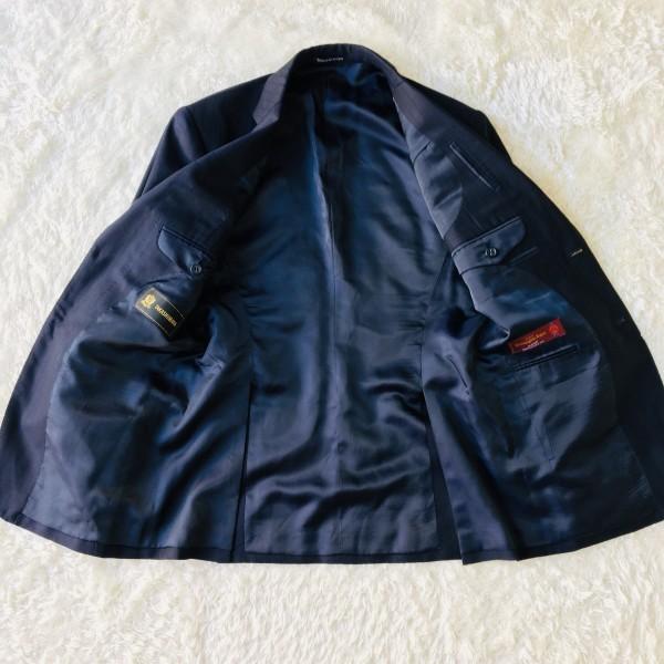 648 美品 Takashimaya x ゼニア Ermenegildo Zegna メンズ スーツ ネイビー ストライプ 高島屋 メンズ_画像7