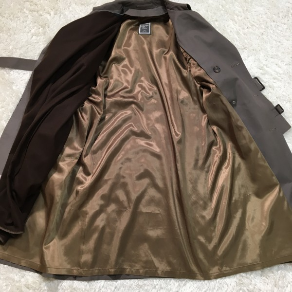 651 クリスチャンディオール Chiristian Dior MONSIEUR トレンチコート グレー 42 ビンテージ グレージュ メンズ L~XL ロゴ ライナー_画像7