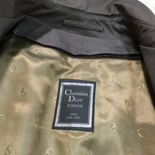 651 クリスチャンディオール Chiristian Dior MONSIEUR トレンチコート グレー 42 ビンテージ グレージュ メンズ L~XL ロゴ ライナー_画像8