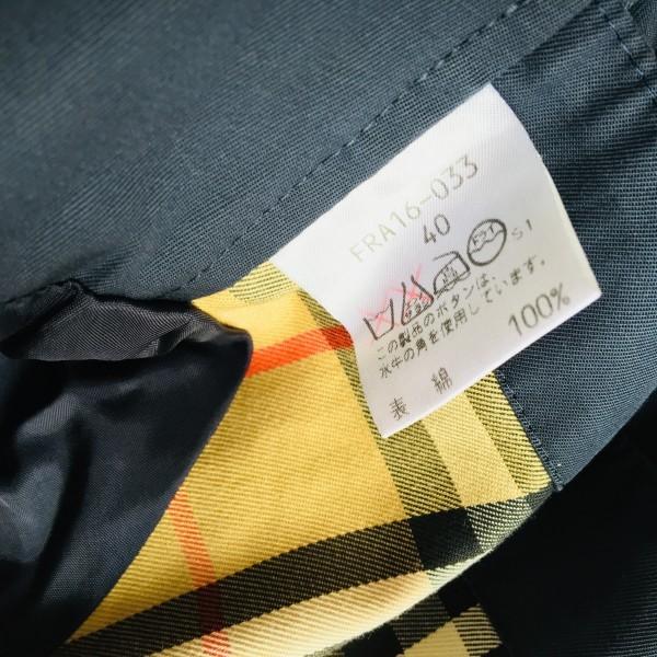 05062 バーバリー Burberry's 40 M ネイビー レディース スプリングコート ステンカラーコート クリーニング済み ノバチェック 襟チェック_画像10