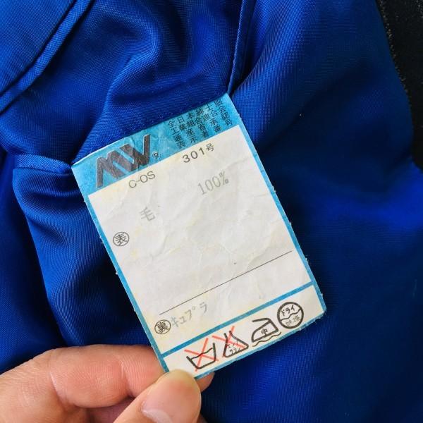 637 美品 Paul Smith ポールスミス スーツ メンズ サイズL ラムウール100% ネイビーxブルー 紺 青_画像9