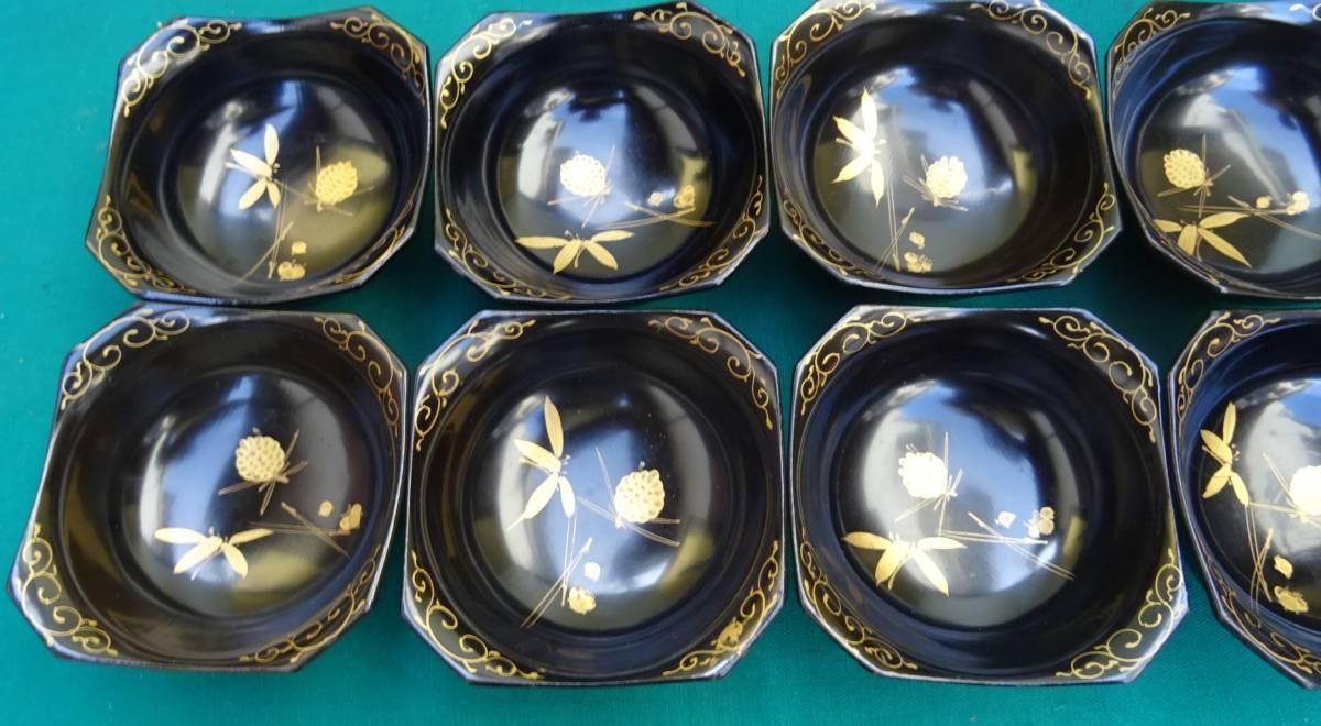 木製・輪島塗り 蒔絵 香の物入れ 向付 10個_画像4