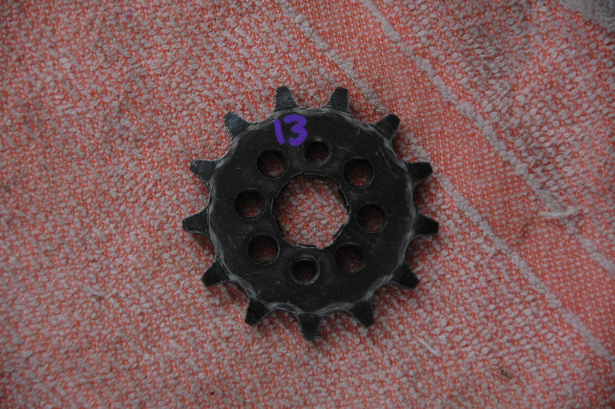 ドリーム50 HRCフロントスプロケット 415 3枚 中古品_画像4