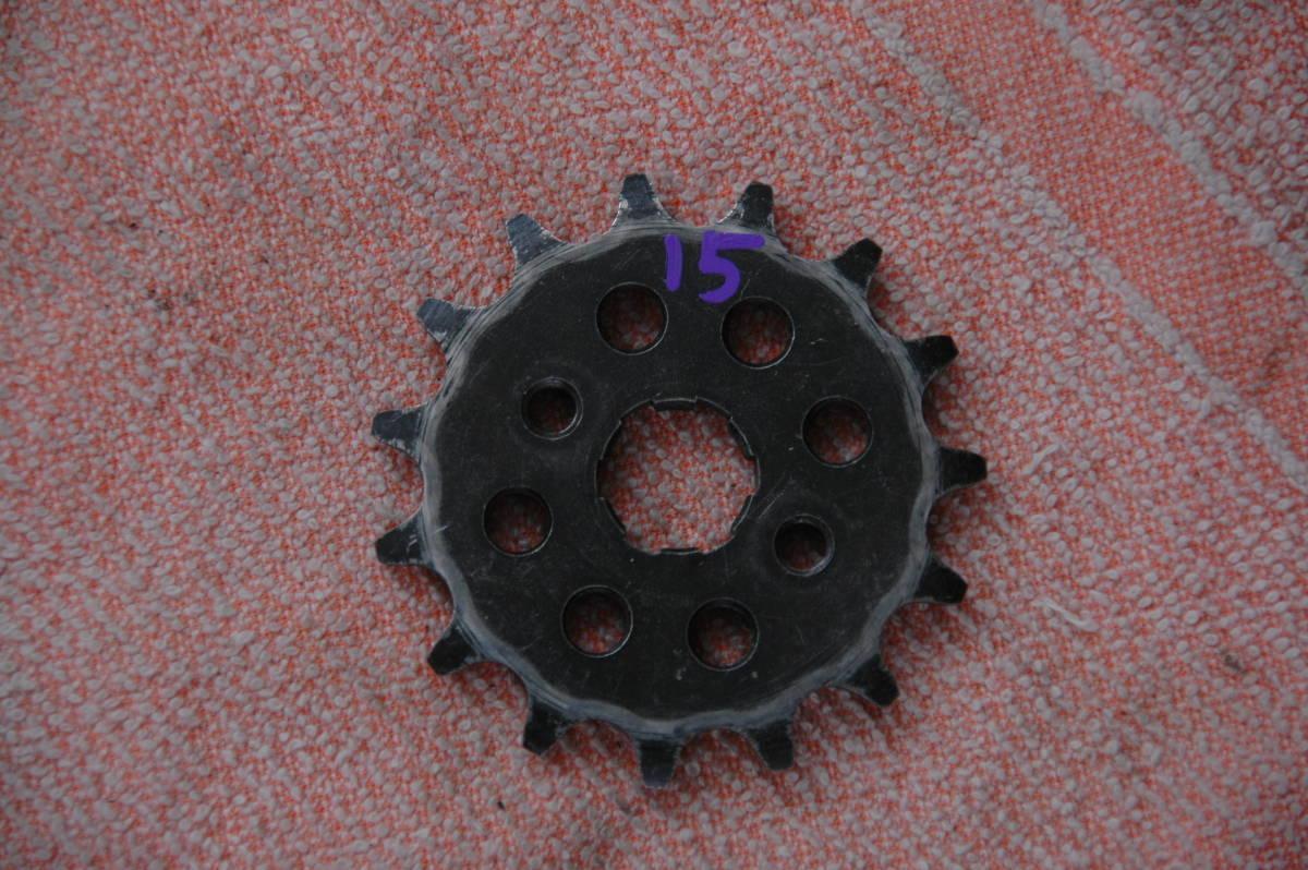ドリーム50 HRCフロントスプロケット 415 3枚 中古品_画像8