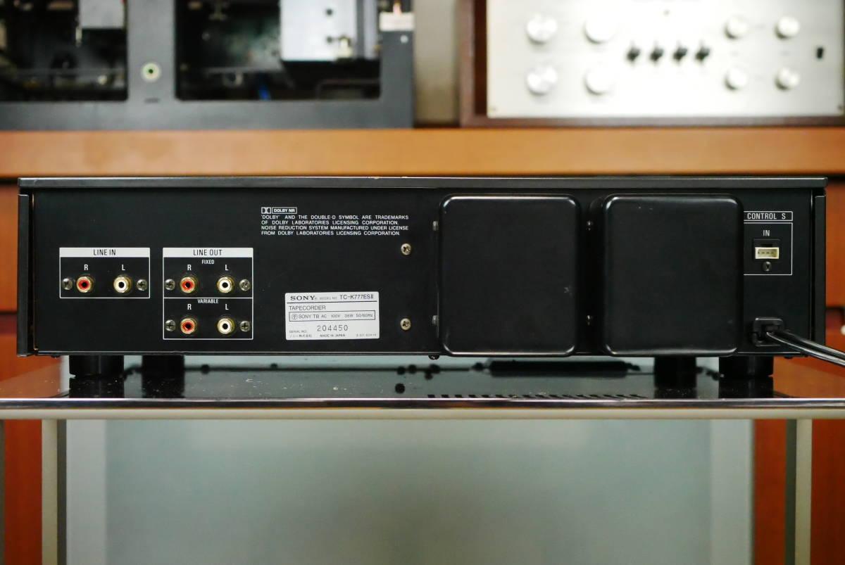 SONY ソニー TC-K777ESⅡ カセットデッキ ソニーの最高峰モデル! メンテナンス済み! 音質良好の美品! 取説付!_クリアーなサウンド!