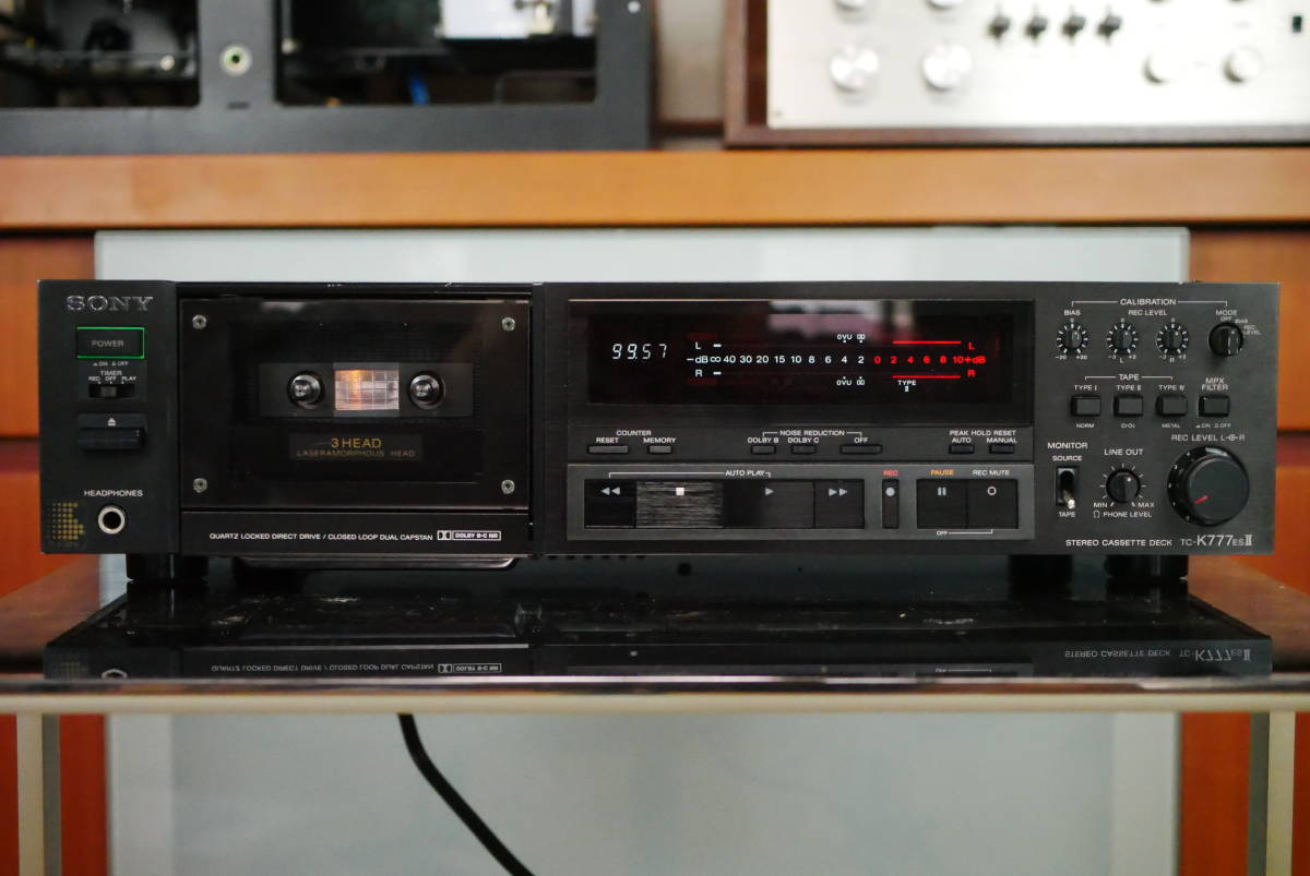 SONY ソニー TC-K777ESⅡ カセットデッキ ソニーの最高峰モデル! メンテナンス済み! 音質良好の美品! 取説付!_定価168000円のハイエンド機!