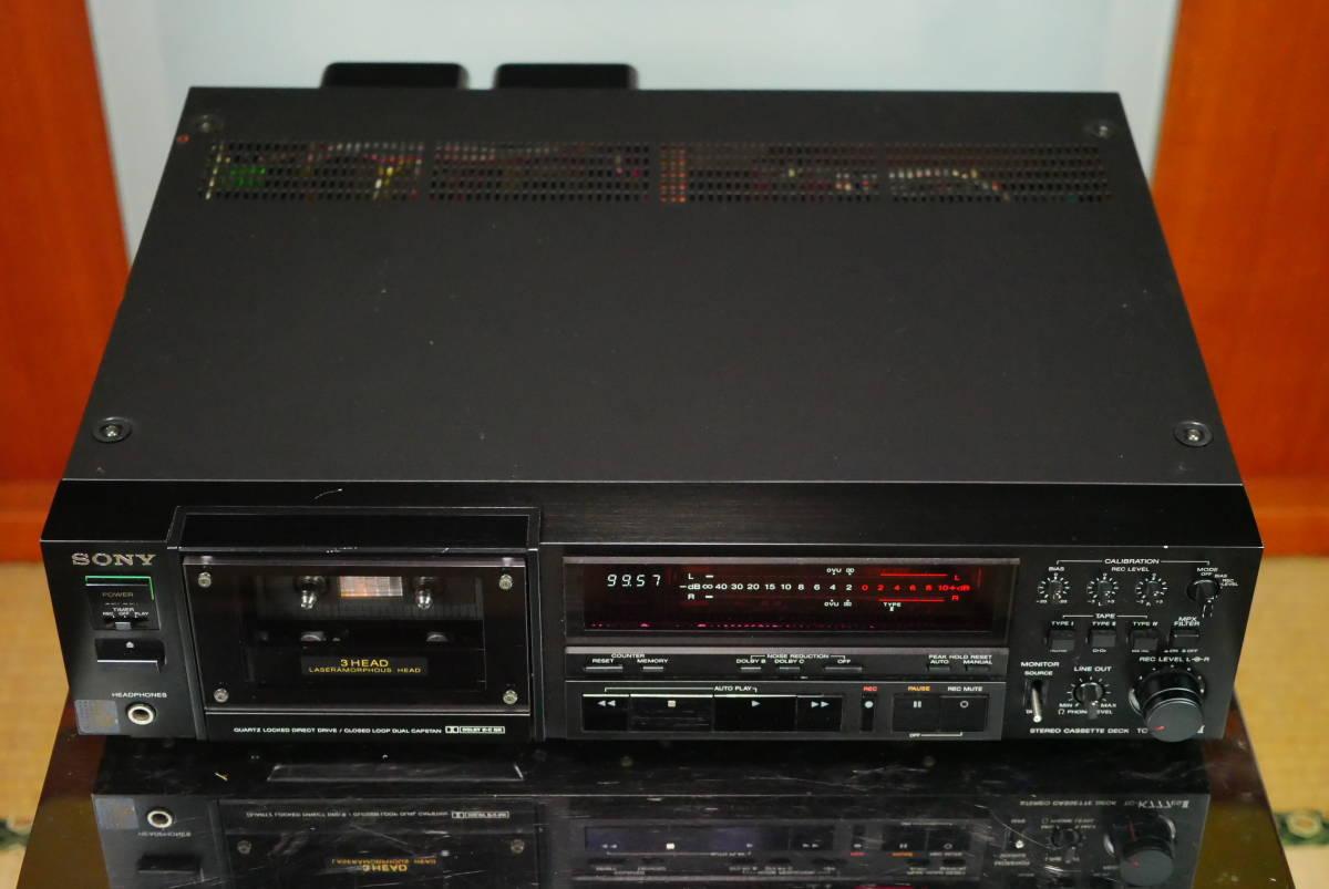 SONY ソニー TC-K777ESⅡ カセットデッキ ソニーの最高峰モデル! メンテナンス済み! 音質良好の美品! 取説付!_プロによるメンテナンス済みです!