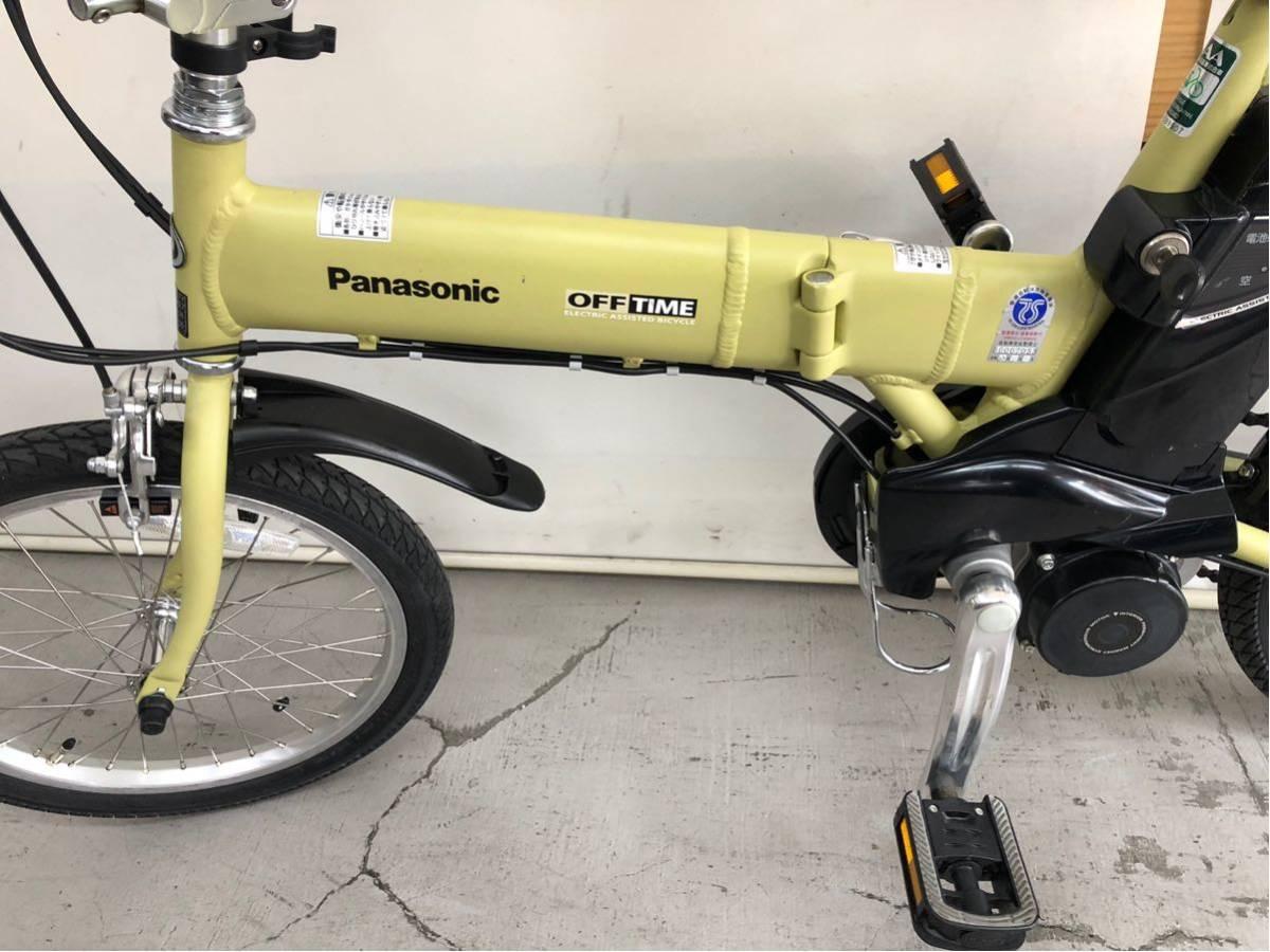 605 パナソニック オフタイム 5ah 折り畳み 電動自転車 電動アシスト 新基準 中古_画像8