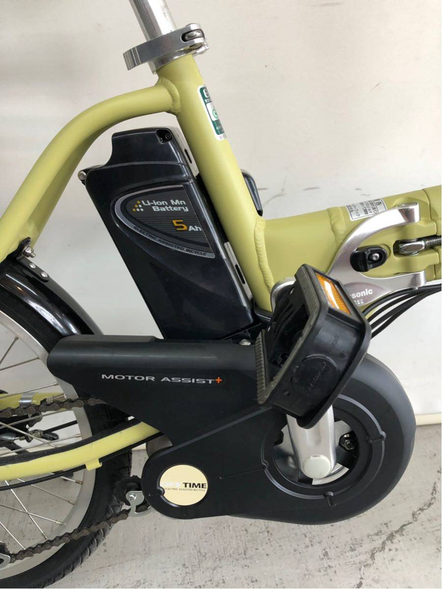 605 パナソニック オフタイム 5ah 折り畳み 電動自転車 電動アシスト 新基準 中古_画像5
