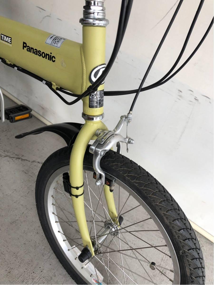 605 パナソニック オフタイム 5ah 折り畳み 電動自転車 電動アシスト 新基準 中古_画像4
