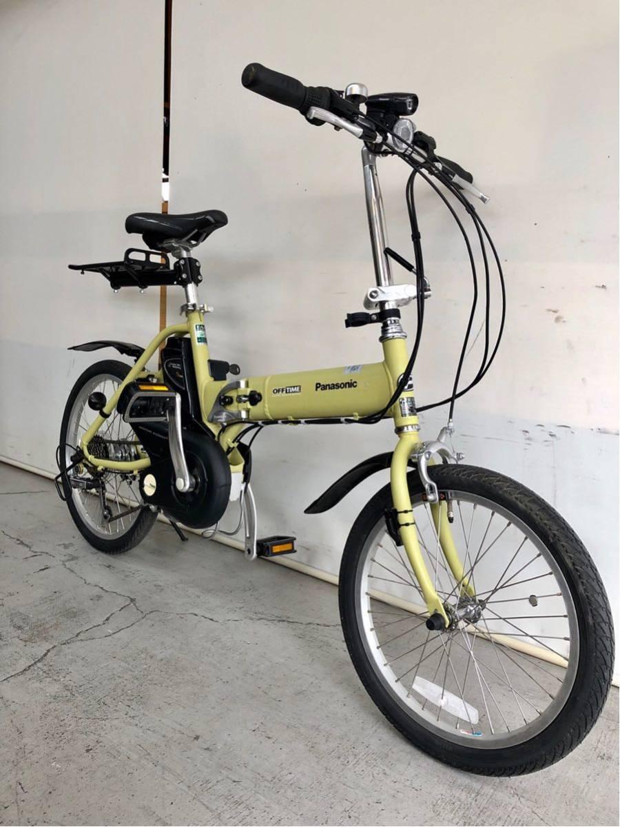 605 パナソニック オフタイム 5ah 折り畳み 電動自転車 電動アシスト 新基準 中古