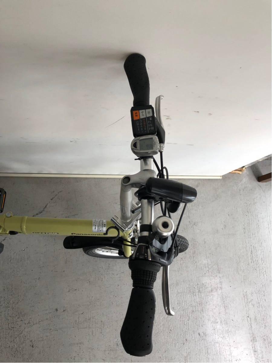 605 パナソニック オフタイム 5ah 折り畳み 電動自転車 電動アシスト 新基準 中古_画像3