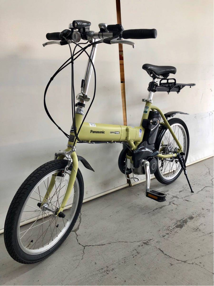 605 パナソニック オフタイム 5ah 折り畳み 電動自転車 電動アシスト 新基準 中古_画像2