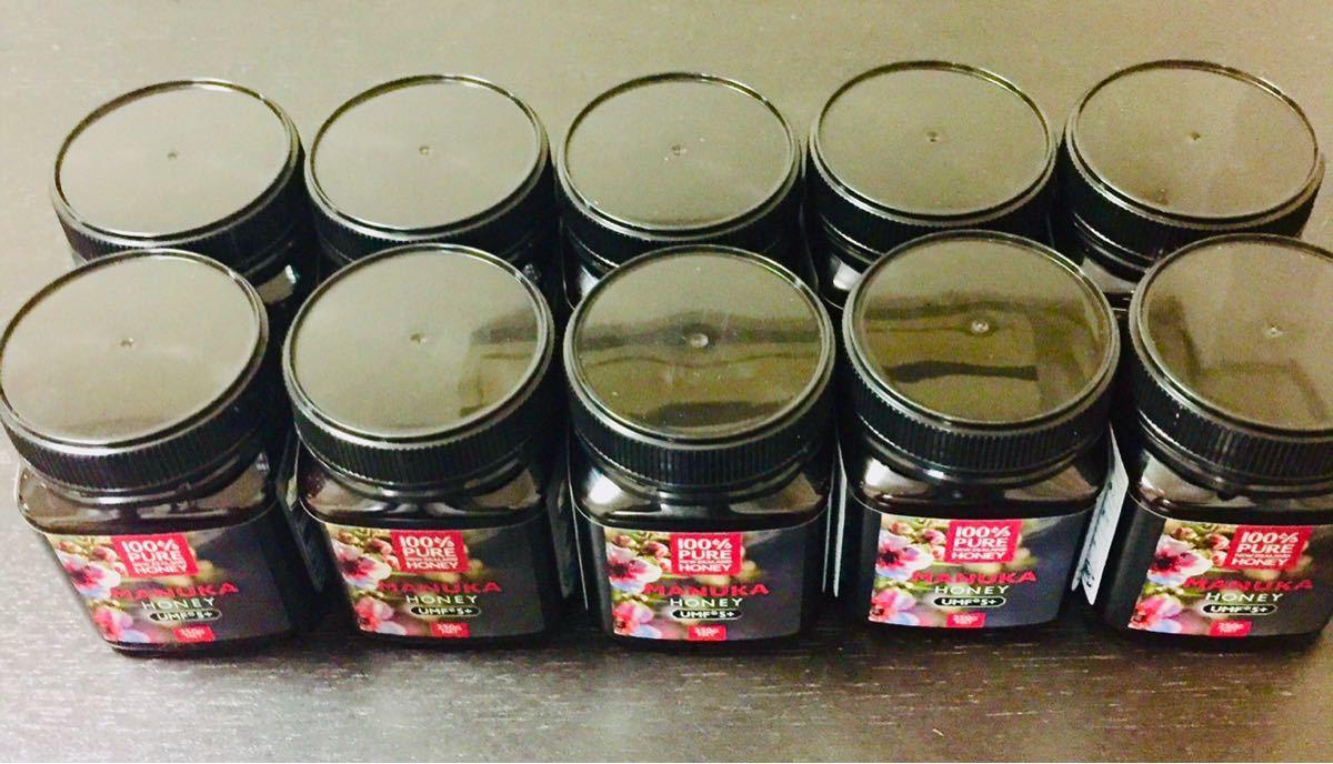 マヌカハニー 水谷養蜂園 UMF5+ 新品 10個セット はちみつ ハチミツ ニュージーランド 250g
