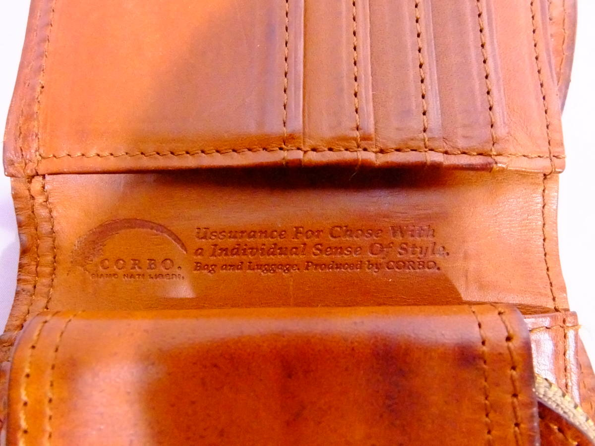 76_T730)【送料無料】コルボ CORBO -SLATE- スレートシリーズ 三つ折り財布_画像3